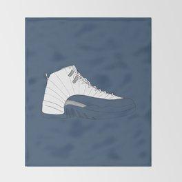 Jordan 12 French Blue Throw Blanket