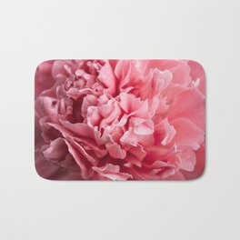Peony Photography | Hot Pink Flower | Floral Art Print | Nature | Botany | Plant Bath Mat
