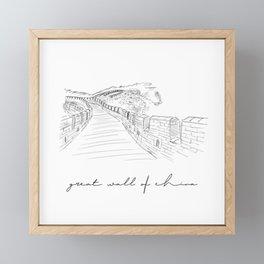 geat wall of china - fine art Framed Mini Art Print
