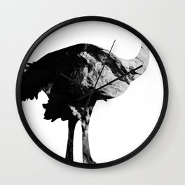 Ostrich (The Living Things Series) Wall Clock