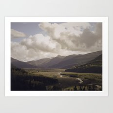 Toutle River Valley Art Print