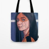 pain Tote Bags featuring Pain by Conrado Salinas