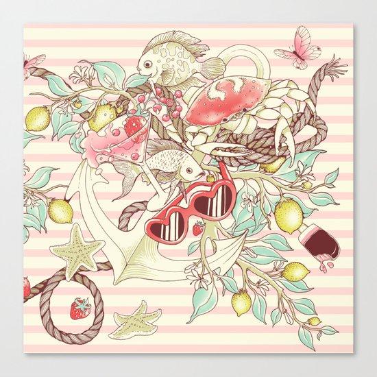 Sea, Sun and Fun - Pt. 2 - pink tones Canvas Print