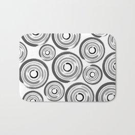 Enso Circles - Zen Circles pattern #1 Bath Mat