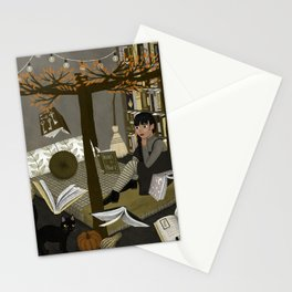 floating books ii Stationery Cards