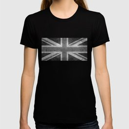 British Union Jack flag 1:2 scale retro grunge T-shirt