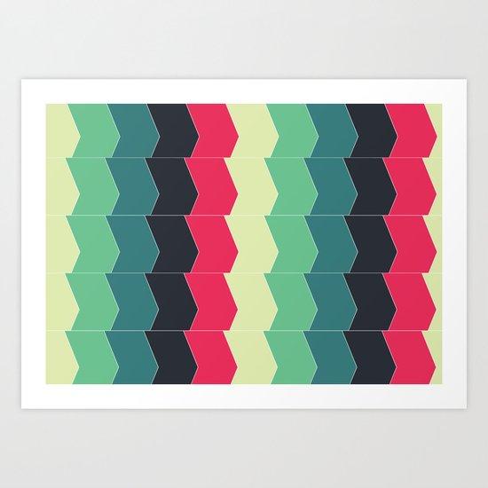 Almost a Chevron Art Print