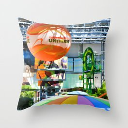 Nickelodeon Universe indoor amusement park Throw Pillow