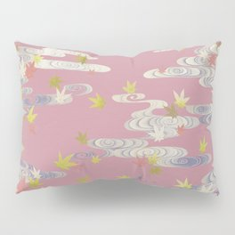 Vintage Maple Leaves Illustration Pillow Sham