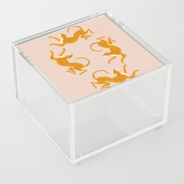 Leopard Race - pink Acrylic Box