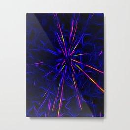 Neon lightning star - by Brian Vegas Metal Print