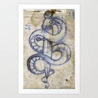 snake and dagger Art Print
