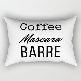 Coffee Mascara Barre Rectangular Pillow