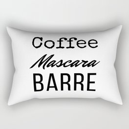 Coffee Mascara Barre Rectangular Pillow