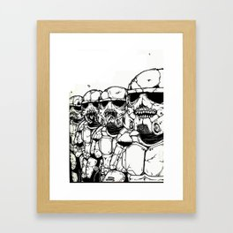 The Undead Troopers Framed Art Print