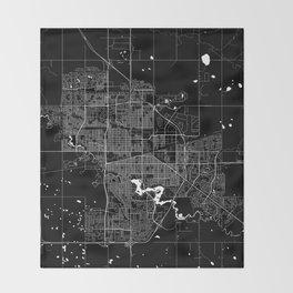 Regina - Minimalist City Map Throw Blanket