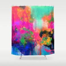 Montesilvano-Abstract Shower Curtain