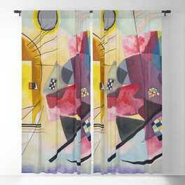 Yellow Red Blue Wassily Kandinsky 1925 Blackout Curtain