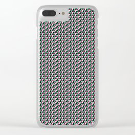 Hex Pattern Clear iPhone Case