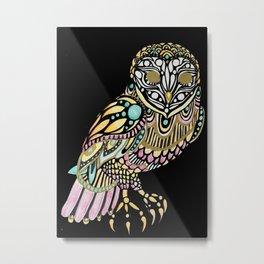 Owl Illustration Metal Print