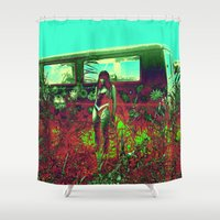 hippie Shower Curtains featuring GLITCH hippie by ☆☆♞☆☆