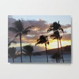 Sugar Beach Sunset Metal Print