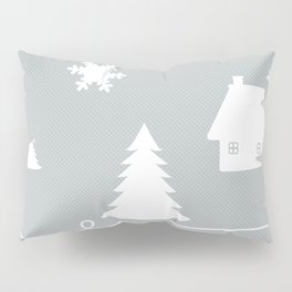 Winter Blues Collage Pillow Sham