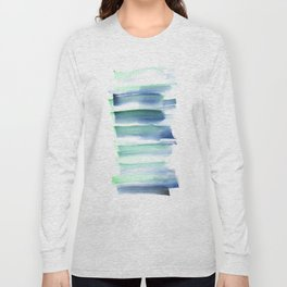 Frozen Summer Series 157  | Watercolor Paintings Easy Ideas Long Sleeve T-shirt