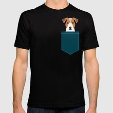 Bailey - Jack Russell Terrier phone case art print gift for dog people Jack Russell Terrier owners Mens Fitted Tee SMALL Black