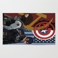 winter soldier Area & Throw Rugs featuring Winter Soldier by Evan Tapper