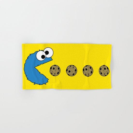 Cookie monster Pacman Hand & Bath Towel