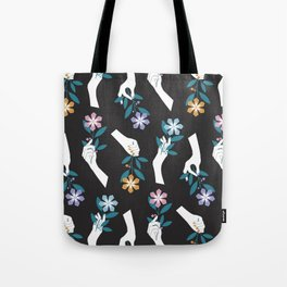 Grasping Flowers Tote Bag
