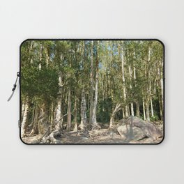 paper bark trees forest Laptop Sleeve