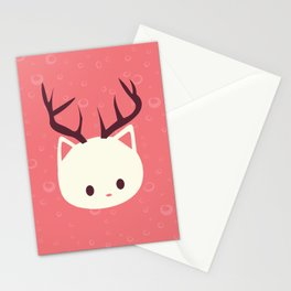 Reindeer Cat Stationery Cards