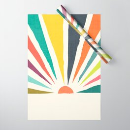 Rainbow ray Wrapping Paper