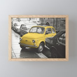 Naughty car, yellow Framed Mini Art Print