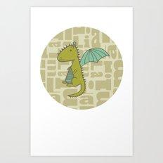 baby dragon liam Art Print