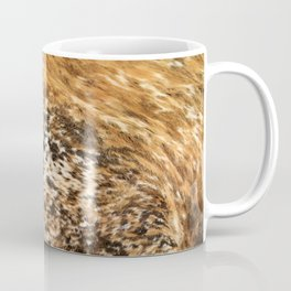 Rustic Country Western Texas Longhorn Cowhide Rodeo Animal Print Coffee Mug