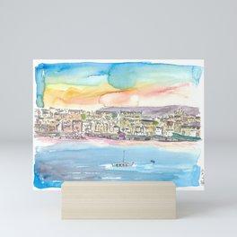Lerwick Shetland Waterfront and Harbour Mini Art Print
