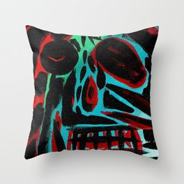 Kal - Abstract expressionism portrait Throw Pillow