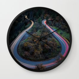 Around the Bend Wall Clock
