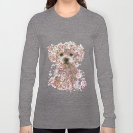 Vintage doggy Bichon frise.DISCOVER Long Sleeve T-shirt