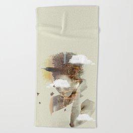 New York City dreaming Beach Towel