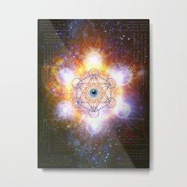 """Aad Guray Nameh""- Merkaba-  Protective energy of the Universe Metal Print"