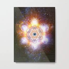 """Aad Guray Nameh""- Merkaba-  Protective energy of the Universe Metal Print"