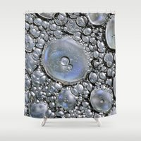 silver Shower Curtains featuring Silver by Imagevixen
