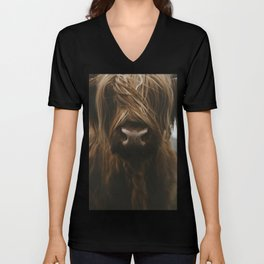 Scottish Highland Cattle Unisex V-Neck