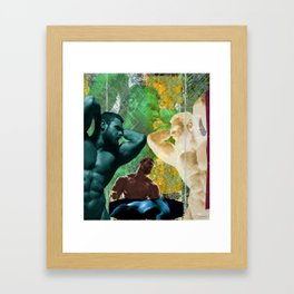 The Groom Stripped Bare by His Bachelors, Even (It's Complicated) Framed Art Print