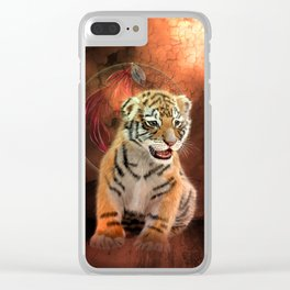 Cute little tiger baby Clear iPhone Case