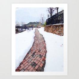"""Bricks in Snow"" Art Print"